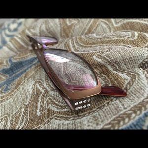 Eyeglass frames. Soft gold/bronze w/ Sequins